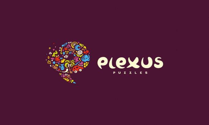 Plexus Puzzles Colorful Logo Design