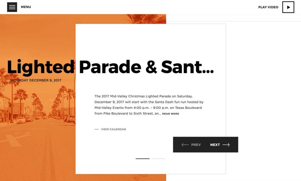 City of Weslaco Colorful Website Design