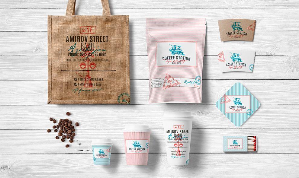 Coffee Station Retro Print Design