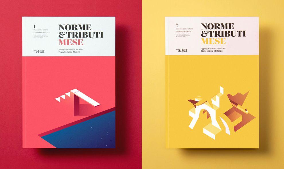 Norme Tributi Mese Covers Vivid Print Design