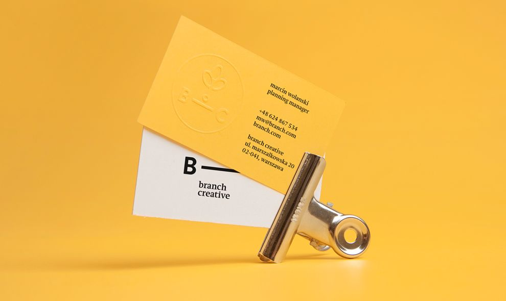 Branch Creative Minimal Print Design