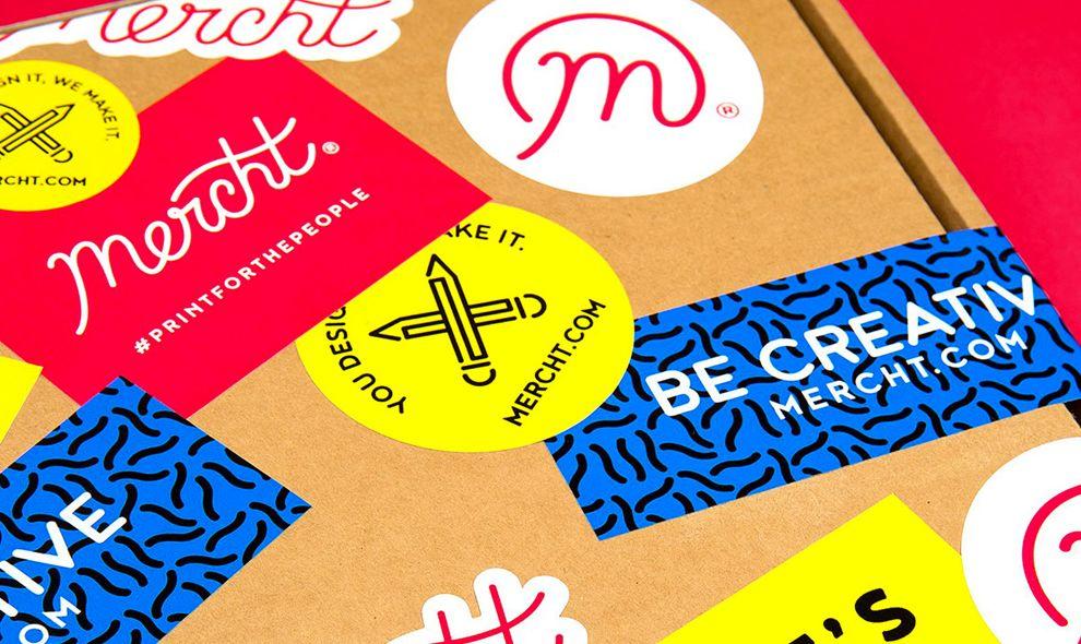 Mercht Colorful Print Design