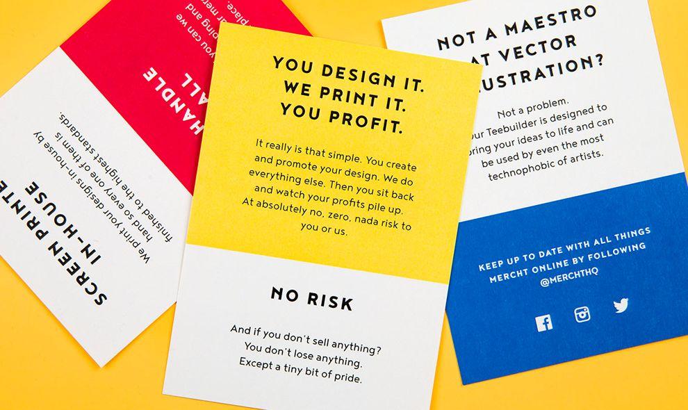 Mercht Minimal Print Design