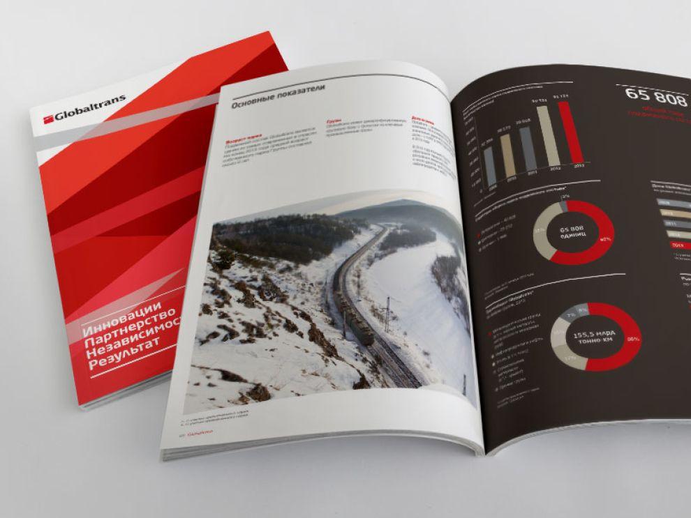 Annual Reports Design for Globalports Globaltrans Corporate Print Design