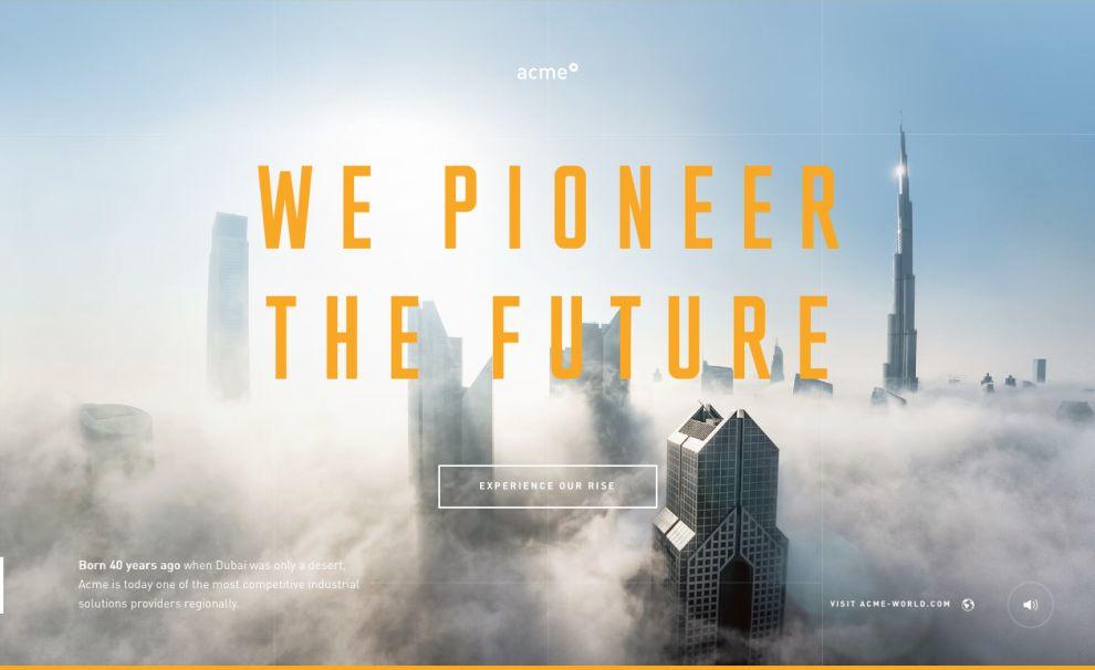 Acme Experience Amazing Homepage