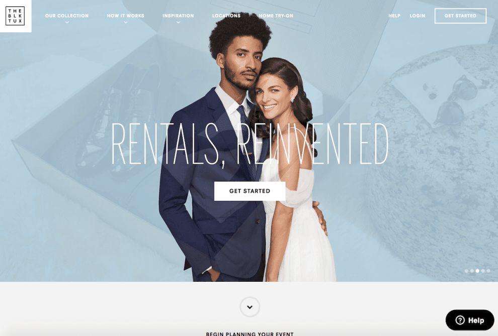 The Black Tux Elegant Homepage