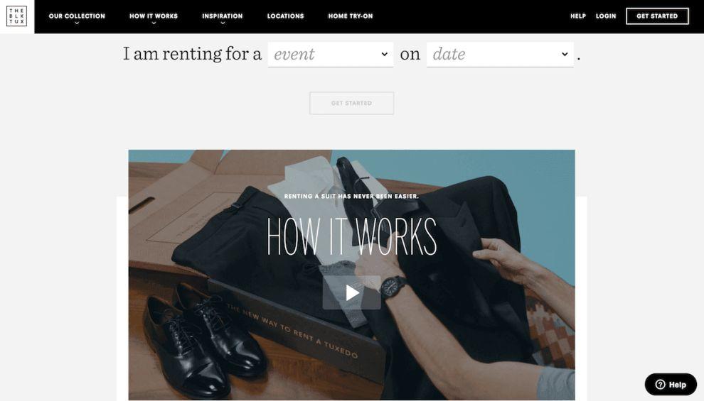 The Black Tux Elegant Website Design