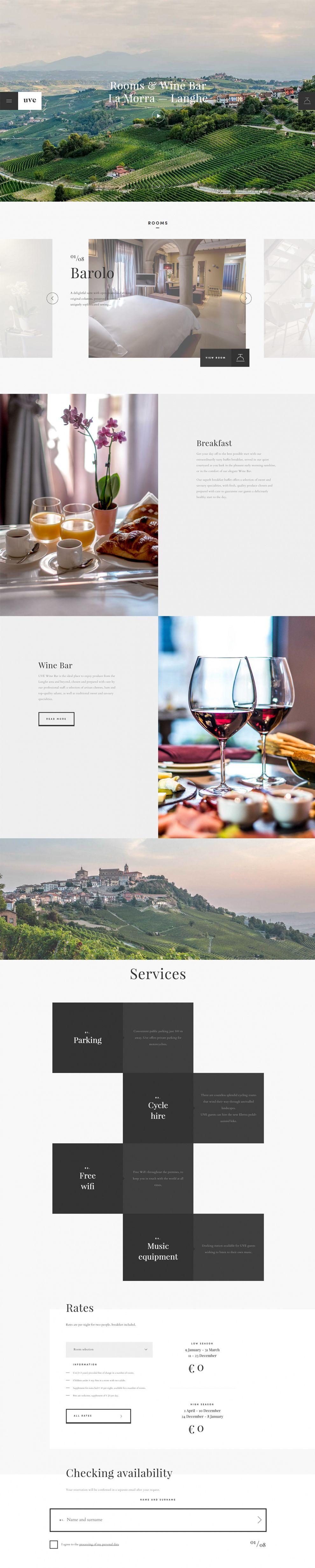 UVE - Rooms & Wine bar Great Homepage