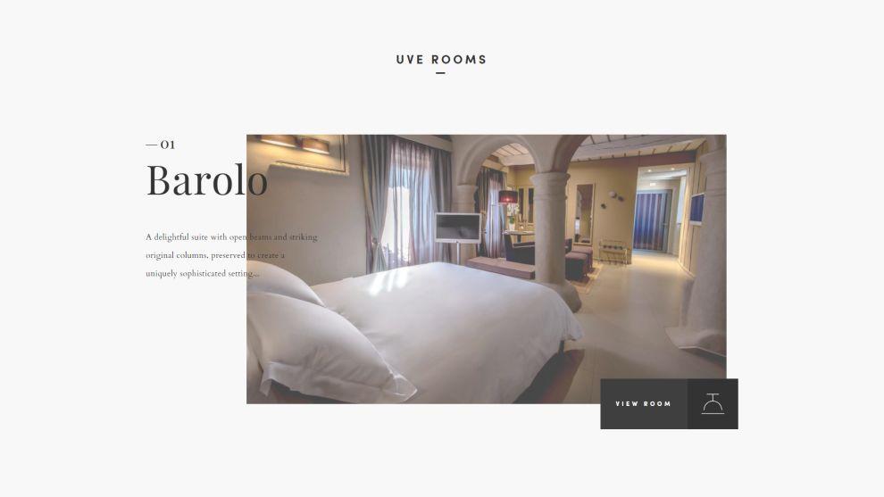 UVE - Rooms & Wine bar Great Website Design