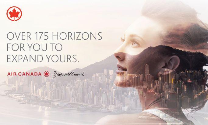 Air Canada – Your World Awaits Amazing Print Design