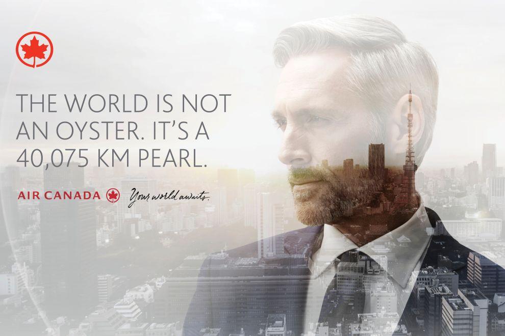 Air Canada – Your World Awaits Great Print Design
