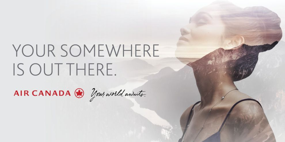 Air Canada – Your World Awaits Print Design