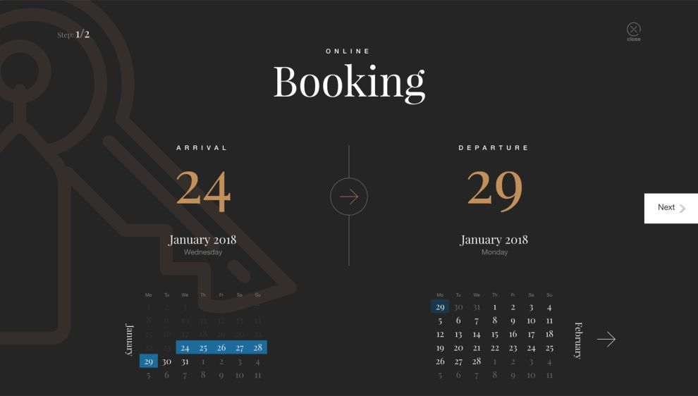 Marco Polo Hotel Beautiful Booking Forms Design