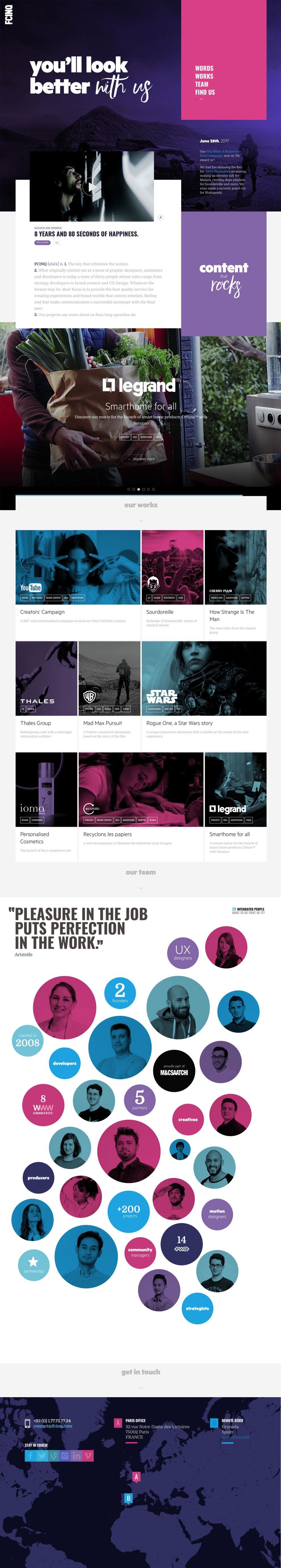 FCINQ Beautiful Homepage