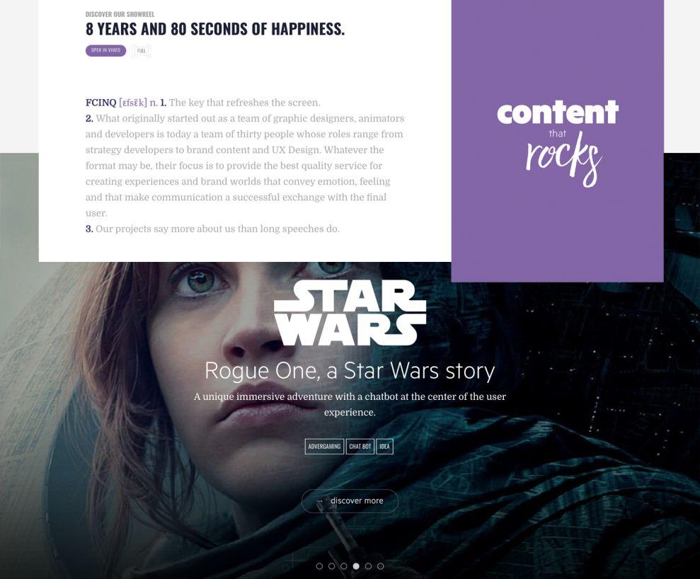 FCINQ Beautiful Website Design