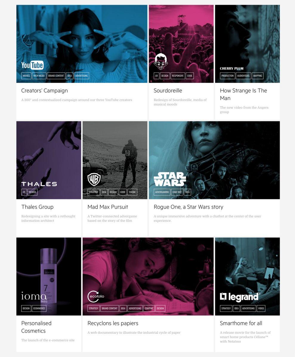 FCINQ Beautiful Portfolio Page
