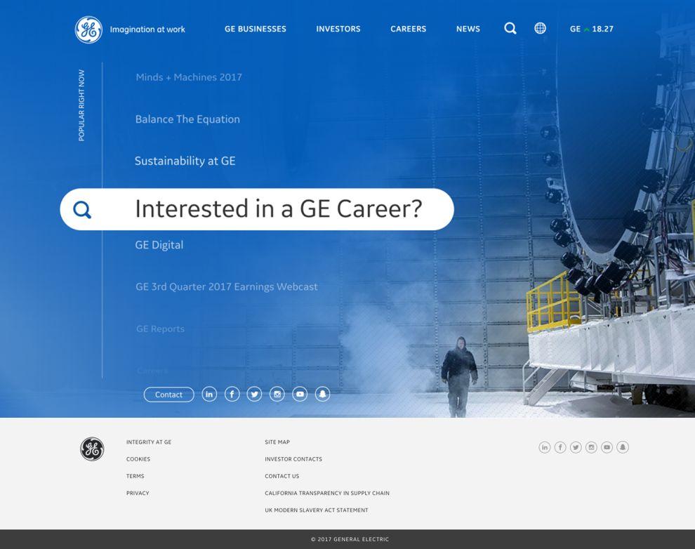 GE Corporate Homepage