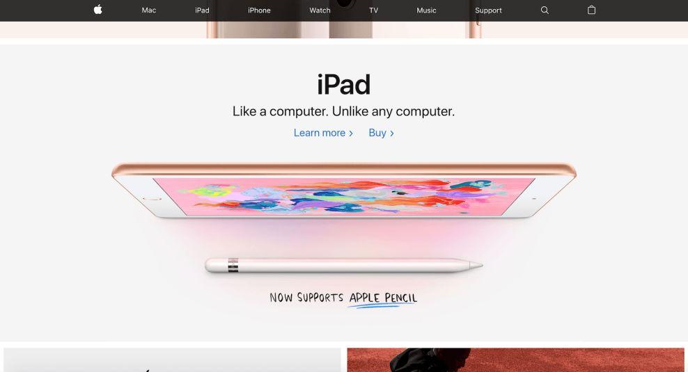 Apple Bold Website Design