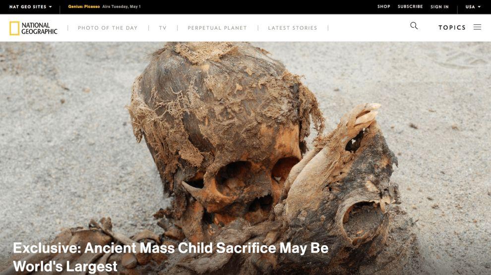 Nat Geo Homepage Website Design
