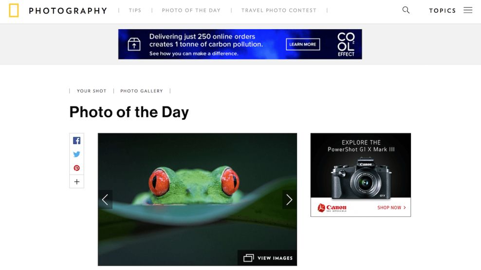 Nat Geo Photo Of The Day Website Design