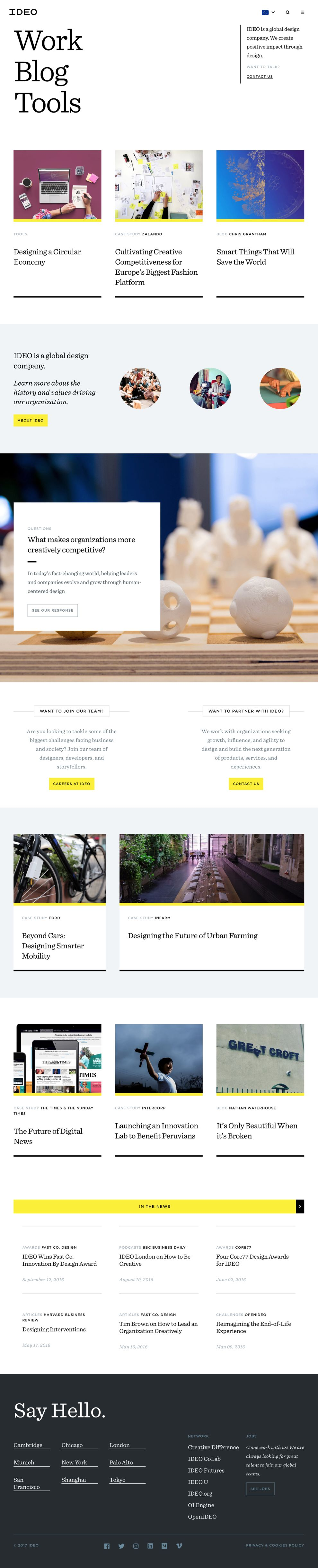 Ideo Corporate Homepage