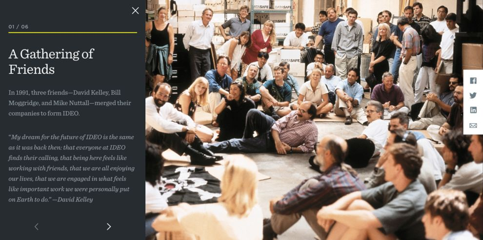 Ideo Corporate Blog Page