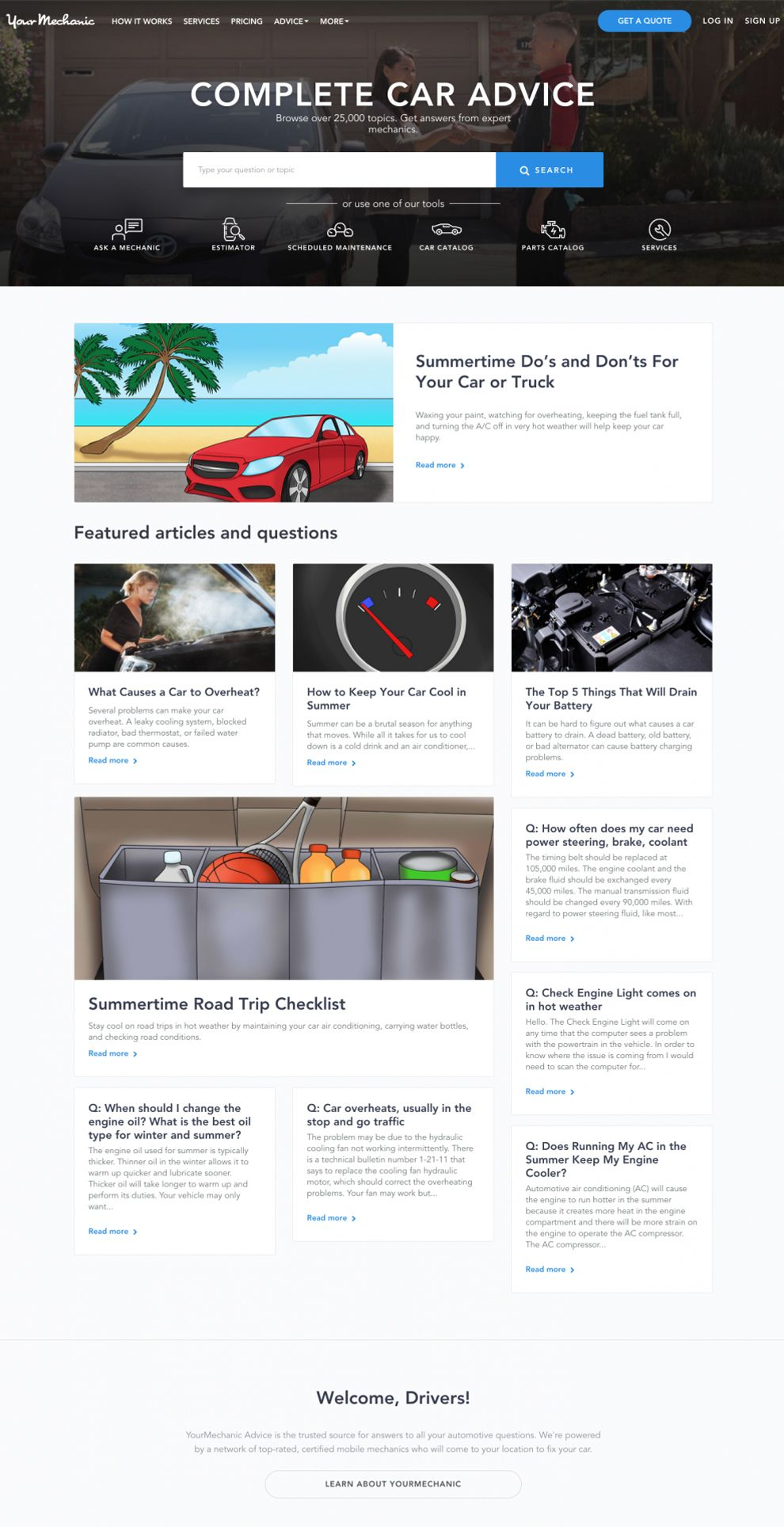 Your Mechanic Clean Homepage
