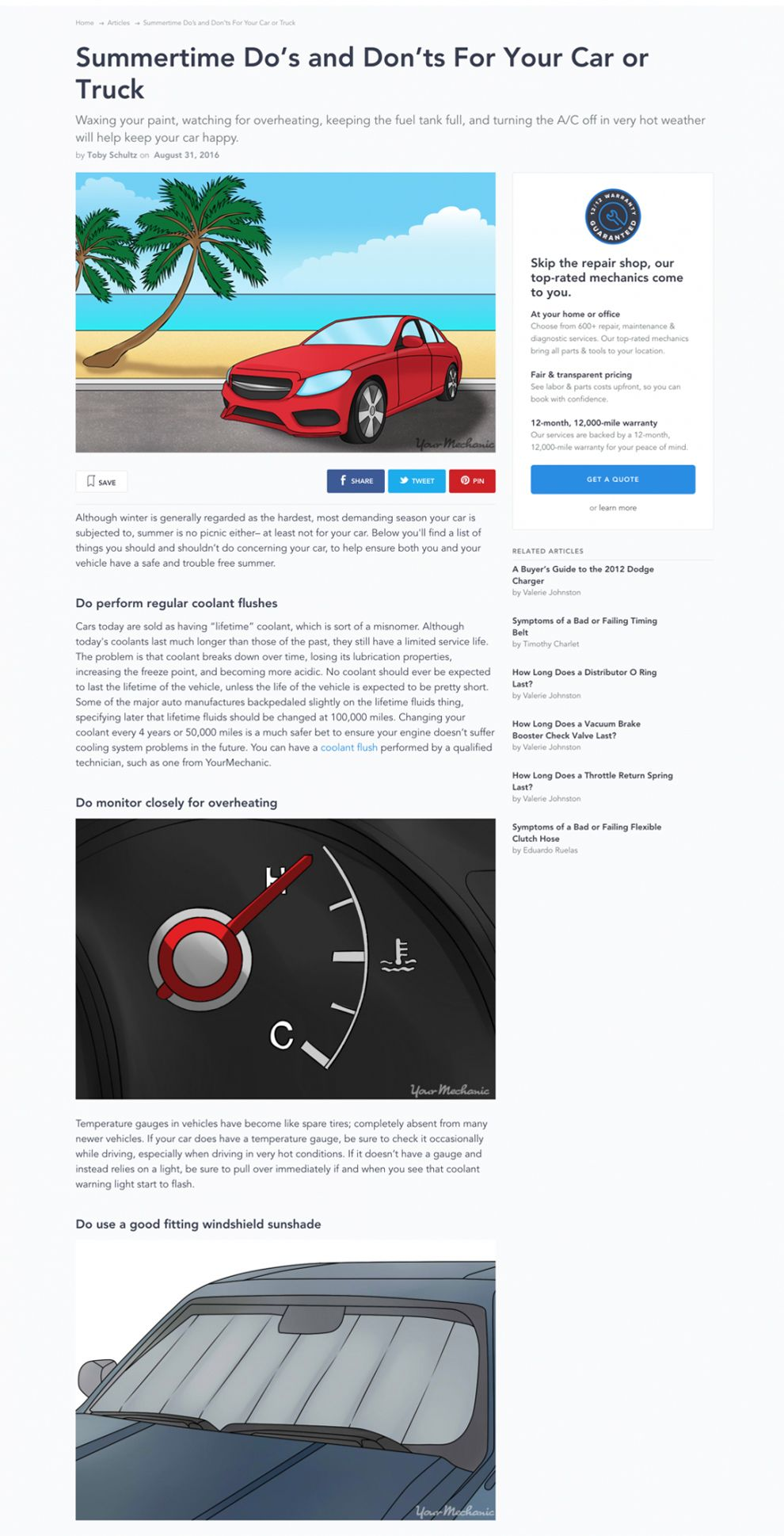 Your Mechanic Blog Page