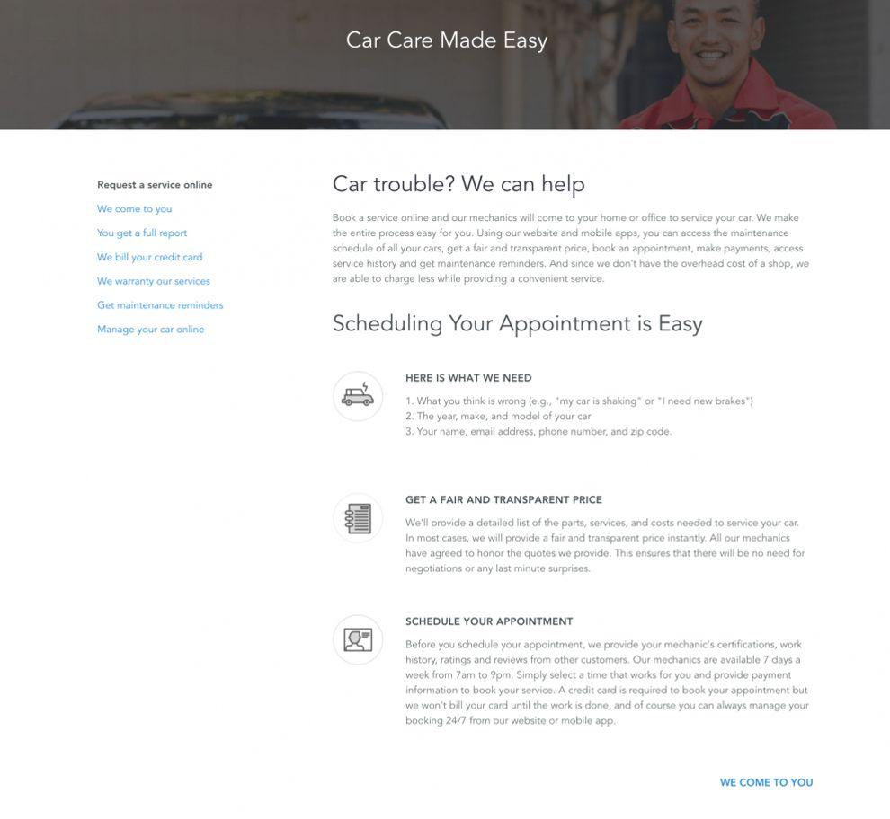 Your Mechanic Clean Website Design