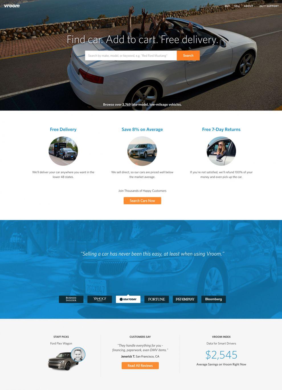 Vroom Clean Homepage