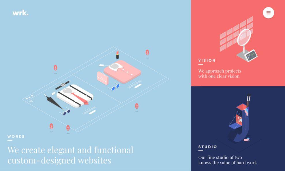 WRK Colorful Homepage