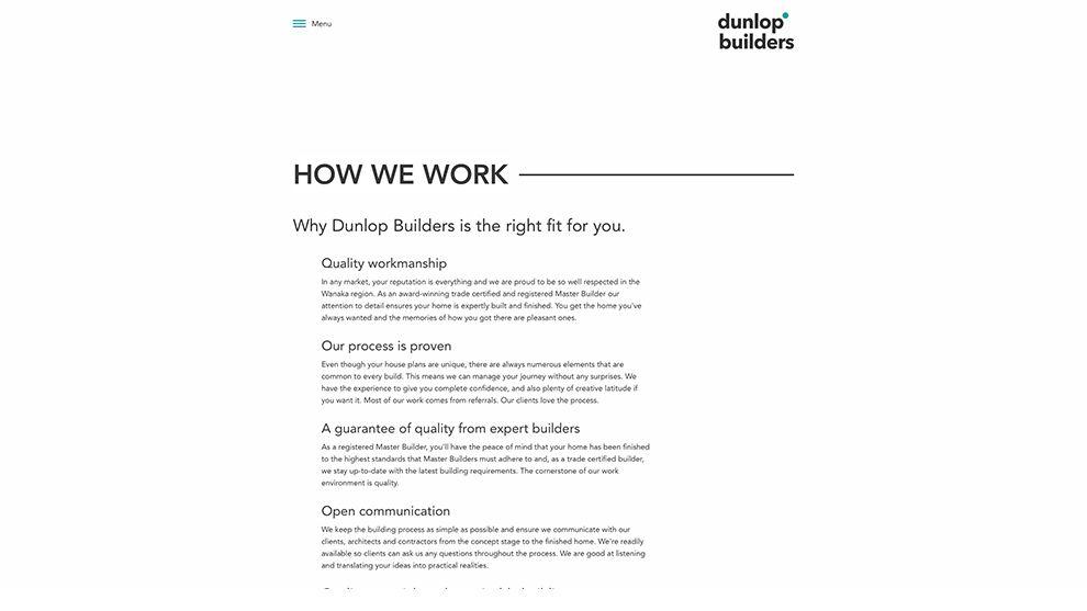 Dunlop Builders Elegant About Page