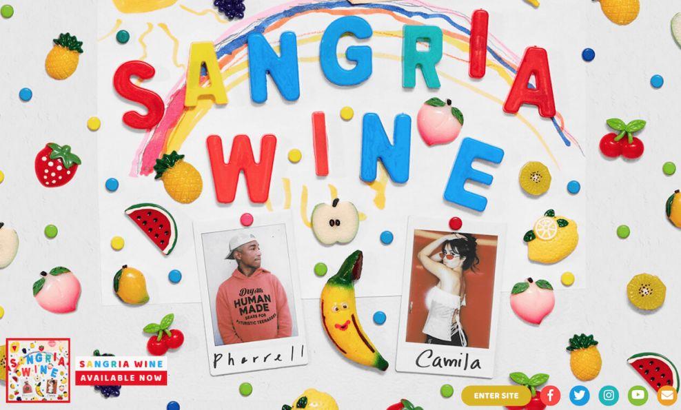 Pharrell Williams Colorful Homepage