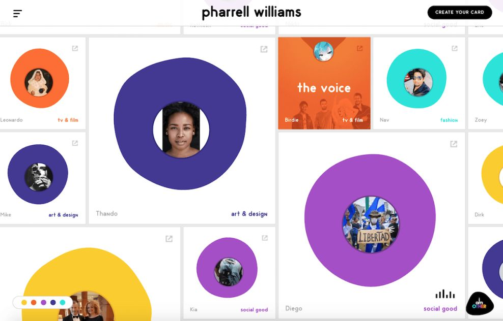 Pharrell Williams Colorful Music Page