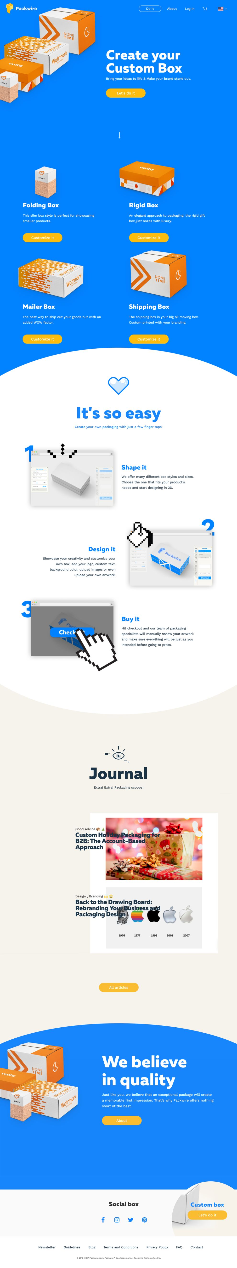 PackWire Playful Homepage