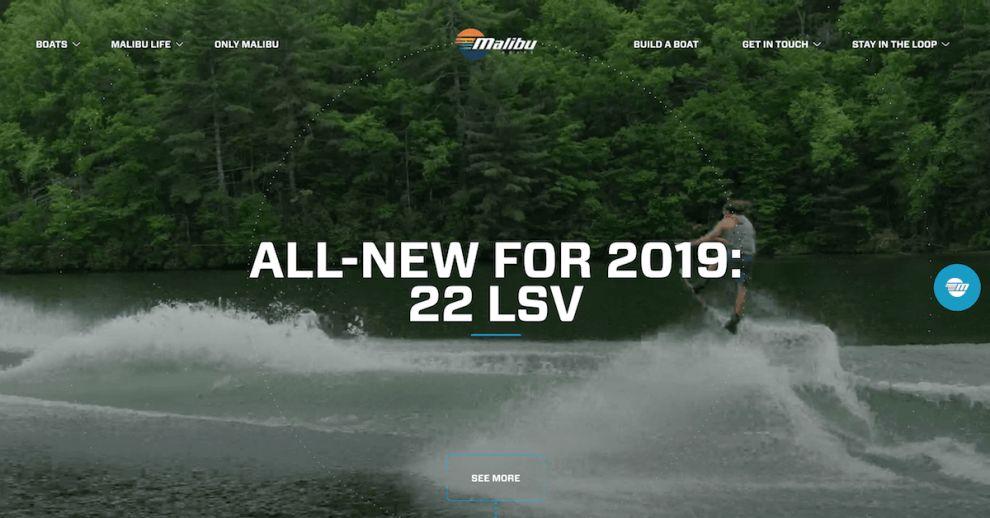 Malibu Boats Exciting Website Design
