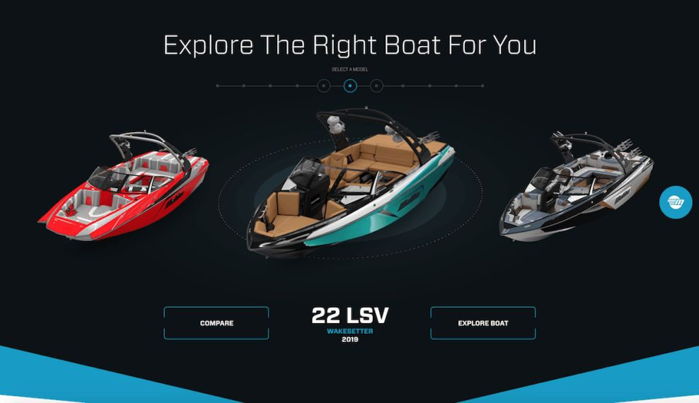 Malibu Boats Top Website Design