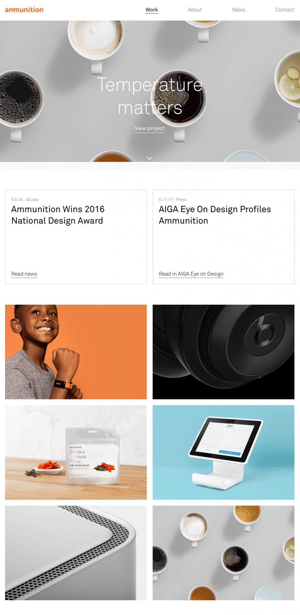 Ammunitiongroup Clean Website Design