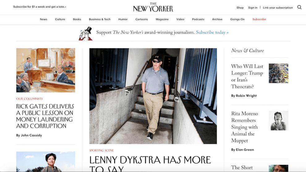 New Yorker Clean Homepage
