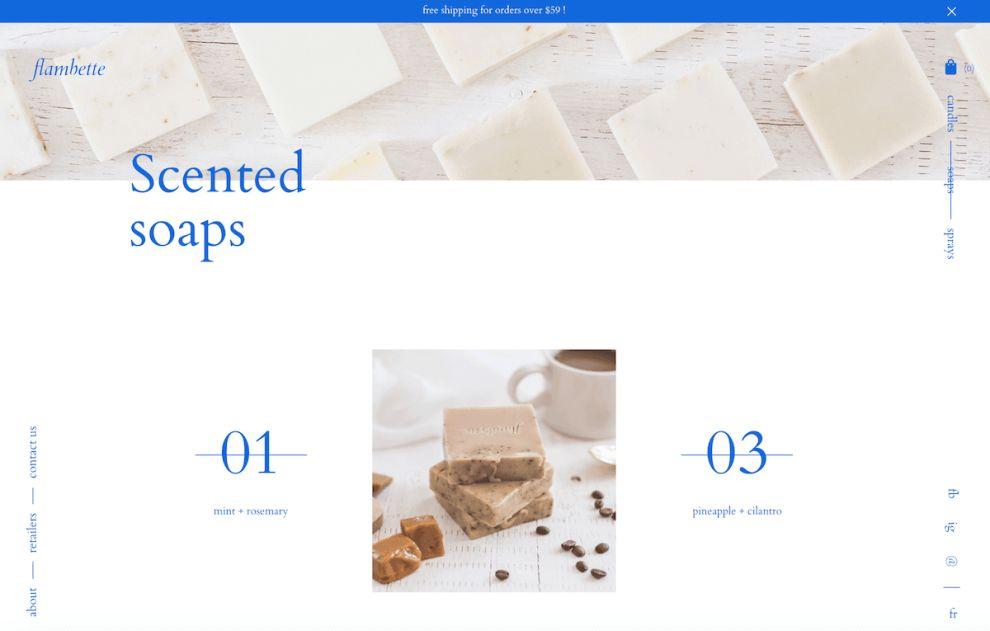 Flambette Clean Website Design
