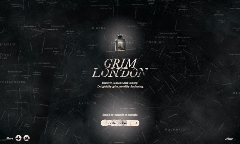 Grim London Creative Homepage