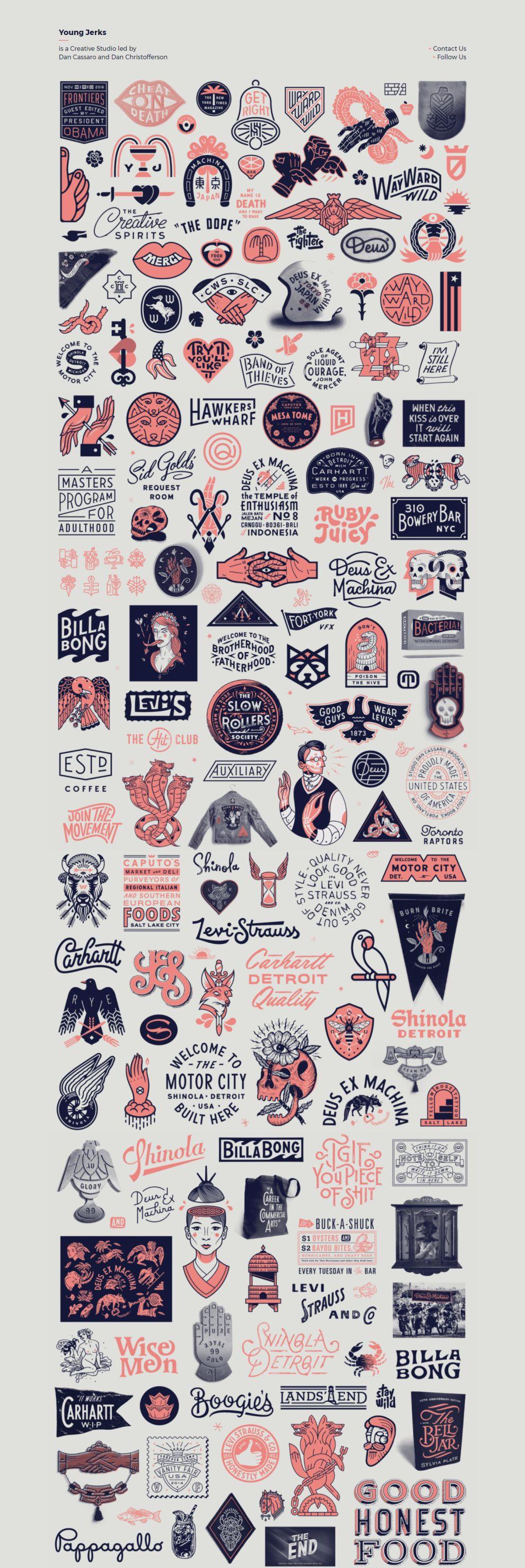Young Jerks Minimal Website Design
