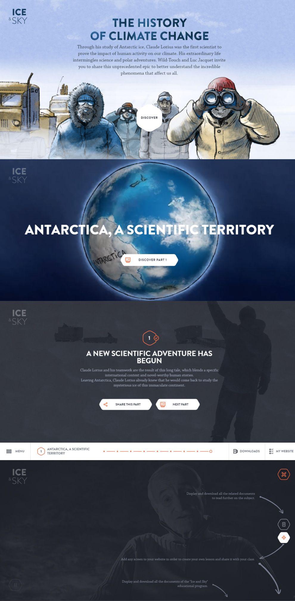 Ice & Sky Amazing Website Design