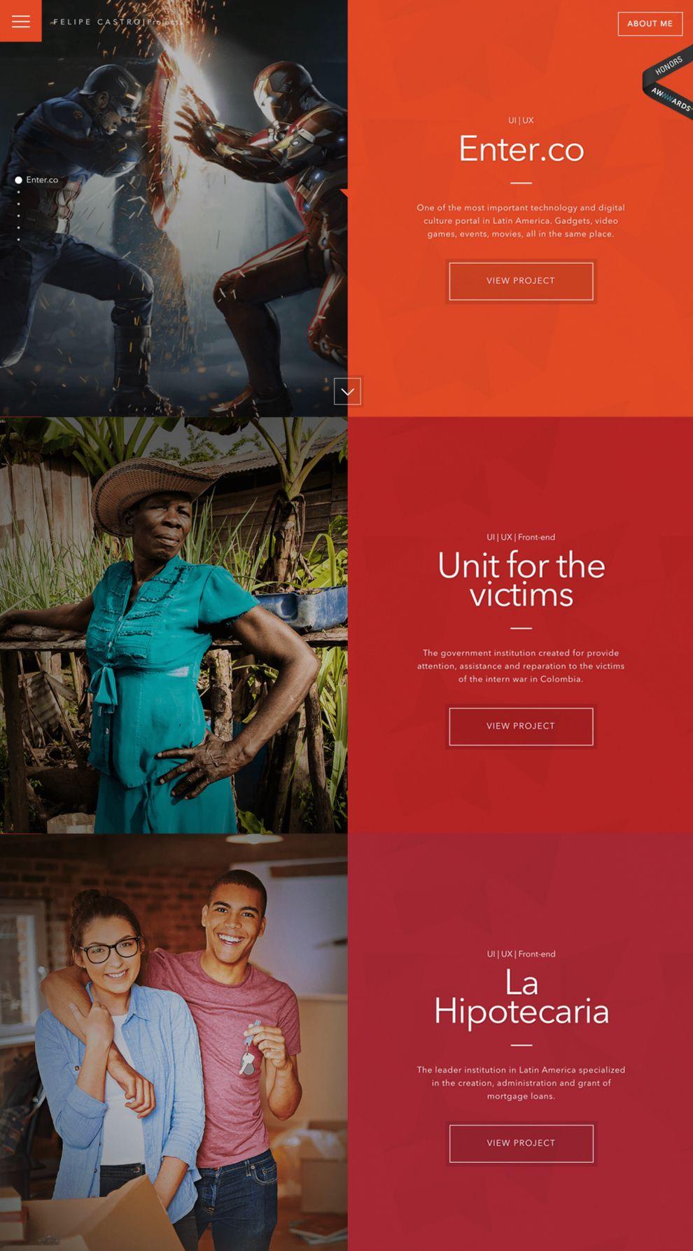 Felipe Castro Colorful Website Design