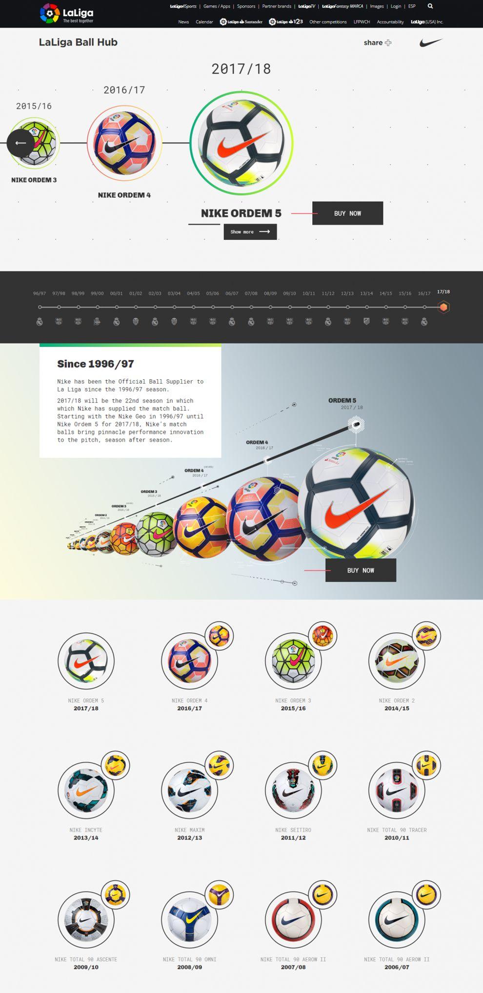 La Liga - Nike Ball Hub Fun Homepage
