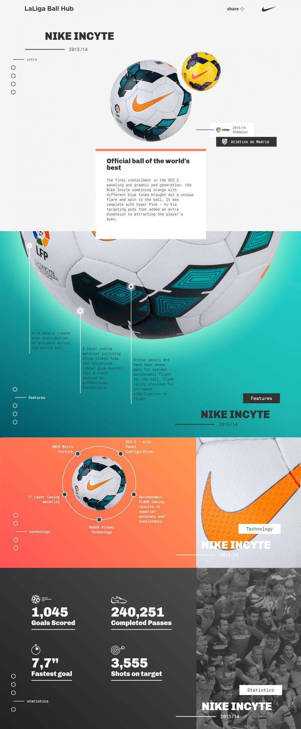 La Liga - Nike Ball Hub Colorful Website Design