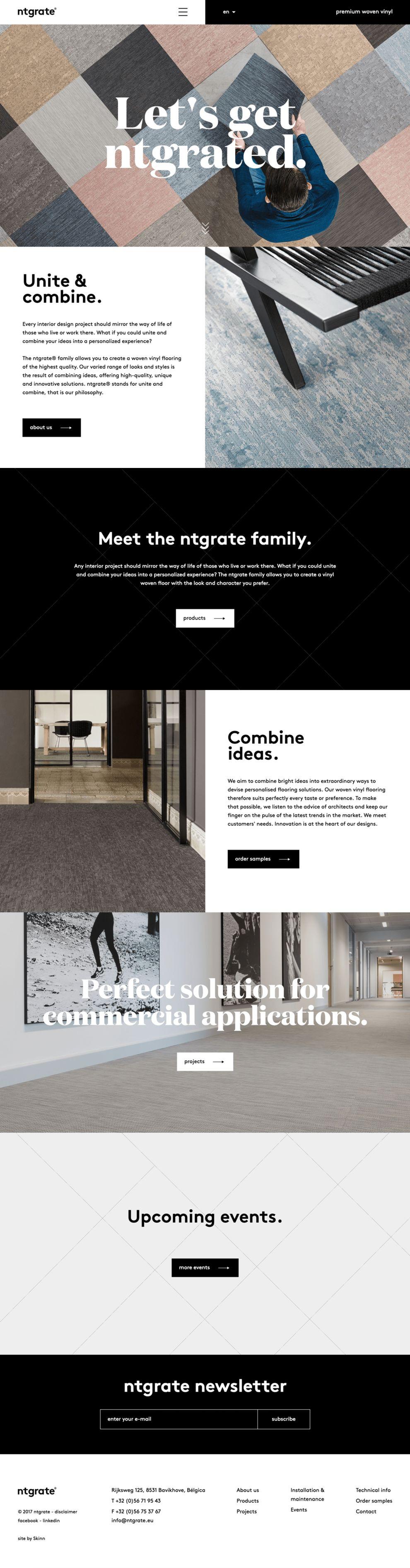Ntgrate Clean Homepage