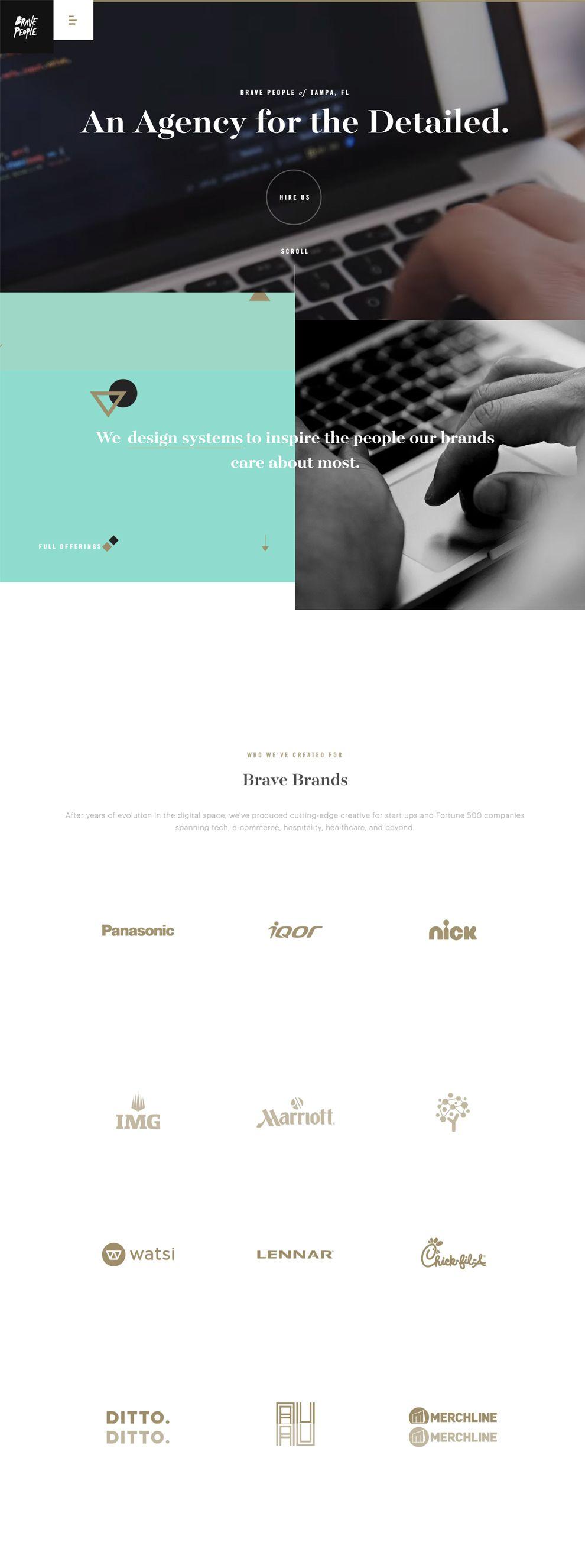 Brave People Elegant Homepage