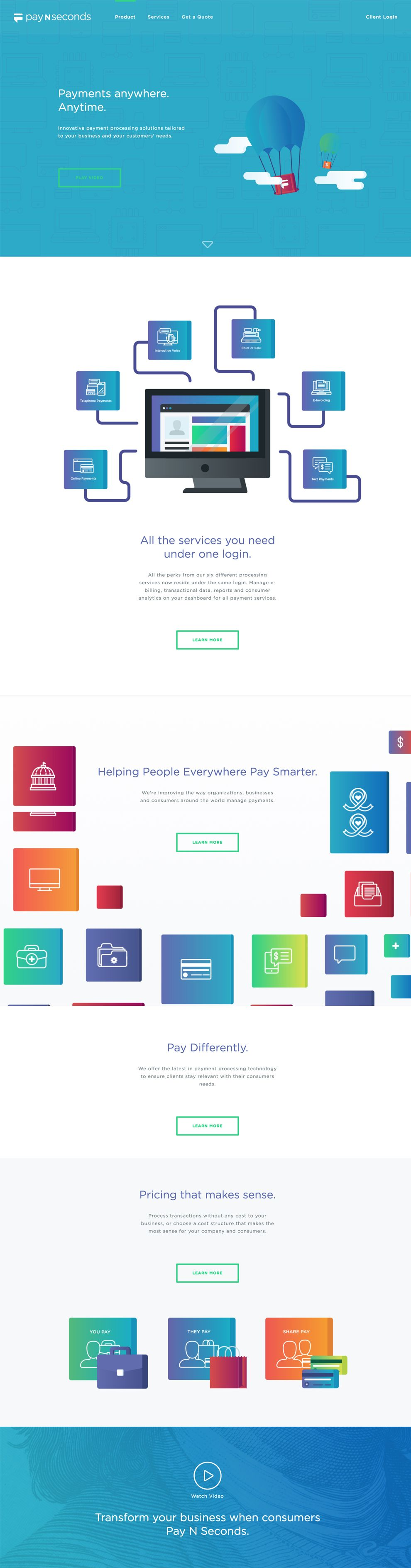 Pay N Seconds Creative Homepage