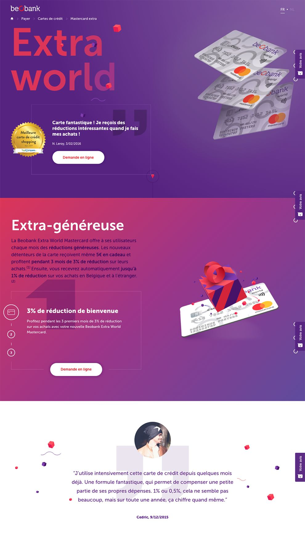 Beo Bank Colorful Homepage